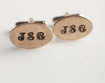 Bronze Personalized Cuff Links  Fathers Day Anniversary Graduation Wedding Item Cufflinks