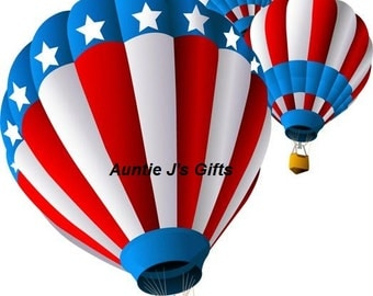 "CROCHET graph with instructions PATTERN, patriotic balloons, 50""x57"""