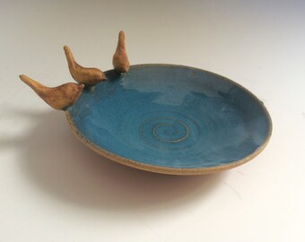 Three  birds Ring Dish, Rustic jewelry dish for Her