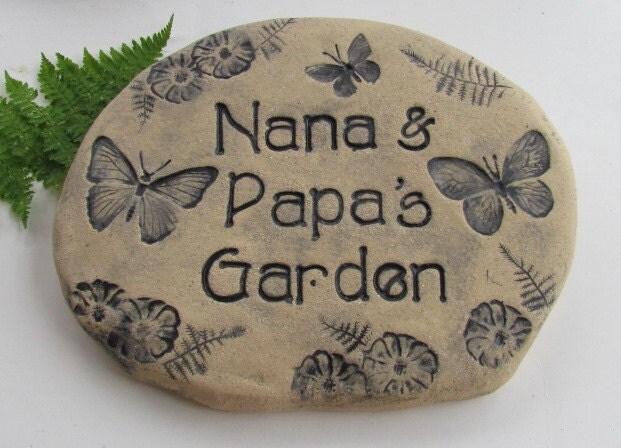 Personalized Garden Stone Custom Outdoor Sign Beautiful