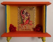 La Madre / The Mother Loteria Bright Colorful and Festive Day of the Dead  / Dia de los Muertos  Mini Altar Shrine Nicho
