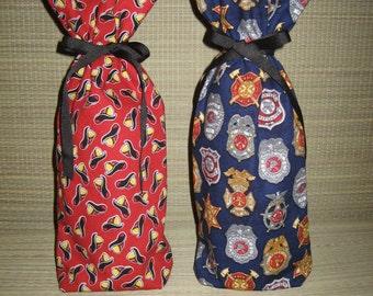 Badges, Firefighter, Booze Bag, Wine Bottle Bag, Food Bag, Vase Holder