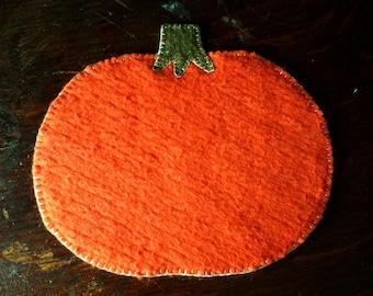 Pumpkin Candle Mat - Mug Rug
