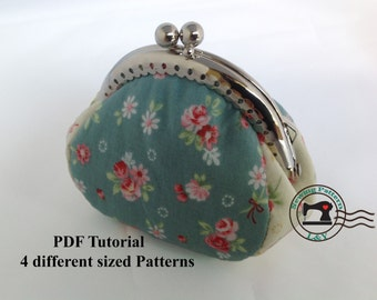 4 Pieces-Frame Purse PDF Sewing Pattern