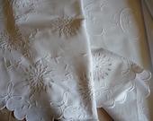 RESERVED FOR PENNY          Antique monogrammed sheet, dowry sheet ,linen sheet trousseau sheet,white linen