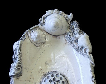 BioIndustrial Baroque Oval Serving Dish with Snails