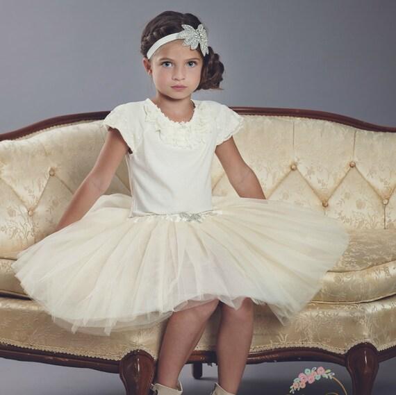 Ivory Tutu Skirt - Toddler Tutu - Birthday Outfit - Girl Tulle Skirt - Girl Tutu - Birthday Tutu - Toddler Girl Skirt - Baby birthday outfit
