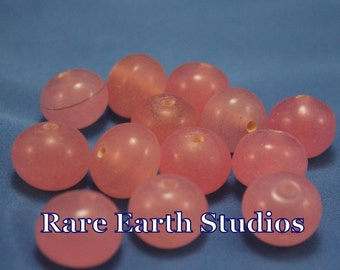 Vintage 19mm Pink Glass Beads 13 beads 60516075