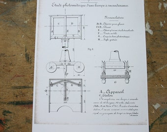Electricity Illustration from Vintage French Training Manual Reproduction