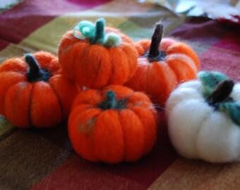 Felted Pumpkins ( 5 for 28.00 dollars)