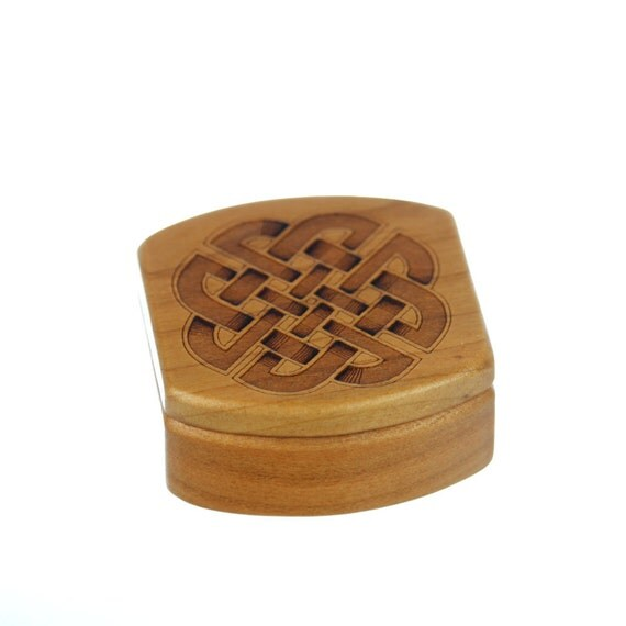 Wooden Box, Solid Cherry, MS6 Celtic Knot, Paul Szewc, Masterpiece Laser