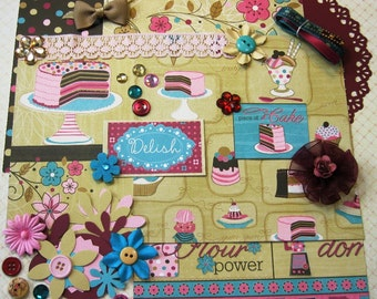Bo Bunny Sweet Tooth Inspiration Kit, Embellishment Kit, Card Making Kit for Scrapbooking Cards Mini Albums Tags and Paper crafts 1