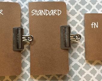 Midori Traveler's Notebook Insert Journal : Standard, Cahier, Field Notes Size