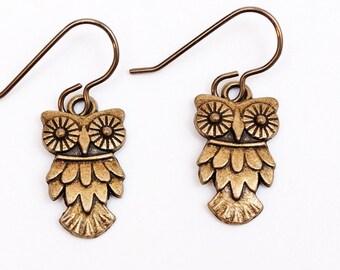 Hoot Owl Pierced Earrings