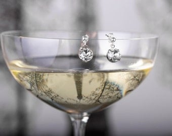 Wedding Earrings - Elina Earring - Bridesmaid Earrings - Bridal Earrings - Wedding Earrings - Crystal Drop Earrings - Wedding Earrings