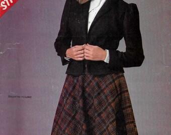 McCalls 8736 Women's 80s Jacket & Skirt Sewing Pattern