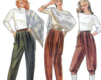 Vogue 8146 Misses' 70s Knickers and Tapered Pants Sewing Pattern Size 6 Waist 23 Hip 32 1/2