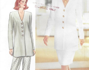 Butterick 3243 Misses' 90s Petite Tunic Skirt & Pants Sewing Pattern Size 12 to 16 Bust 34 to 38