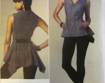 Vogue 1214 Alice & Olivia American Designer Top, Belt, and Leggings Sewing Pattern Bust 29 - 31 and 34 - 40
