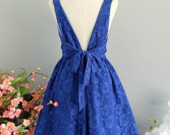 Royal blue dress xs 001