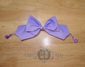 Lavender to purple ombre headbow with iridescent jem centerpiece and tassels Alice bow hair clip large sweet lolita nu goth pastel goth