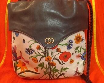 1980s Gucci Floral Crossbody Bag
