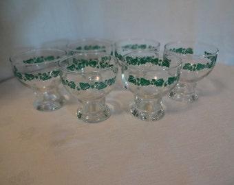 Set of Ivy Retro Juice Vintage Glasses