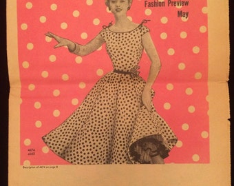 Simplicity Pattern Fashion Preview Catalog May 1954
