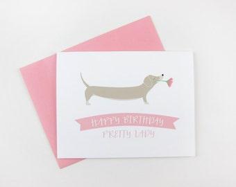 Pretty Lady: Birthday Card