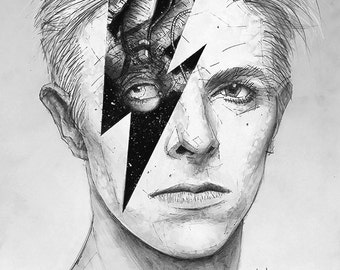 Space Oddity Giclee print of David Bowie