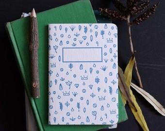 "SALE The ""Up"" Letterpress Notebook / A6 blank notebook / writing guide / pocket notebook / travel journal / small notebook / letterpress"