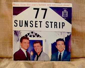 77 SUNSET STRIP - 1959 Vintage Vinyl Record Album