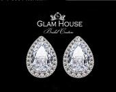 Silver stud earrings,Stud earrings,bridesmaid gift,bridesmaid earrings,cubic zirconia stud earrings,Cubic zirconia Earrings,gifts