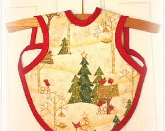 BABY BIB - Baby Apron winter/holiday print