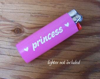 Princess Vinyl Waterproof Sticker for Lighter, wrap, skin, cover, smoke weed, pot, bic, 420