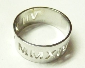 Sterling silver . roman numbers date