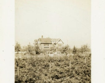 "Vintage Photo ""Where Memories Come Alive"" House Snapshot Old Antique Photo Black & White Photograph Found Paper Ephemera Vernacular - 107"