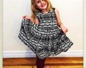 CUSTOM Cotton Dress, Custom Printed Cotton and Original Design Dress