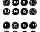 "Stickers; Doodled Circle Dates; Black; 11/16""; Doodle Frame; 32 count"
