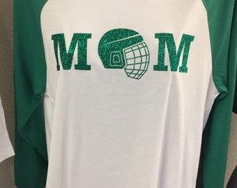 Customized Unisex Hockey Mom/ Goalie Mom/ Goalie Nana 3/4 Sleeve Tee