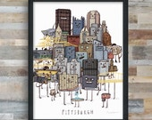 Pittsburgh Skyline group picture- art print
