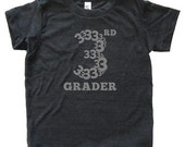 3rd Grader - Back To School / First Day of School Tshirt for Third Grade - Youth Boy / Girl Shirt / Super Soft Kids Tee Blended Clothes