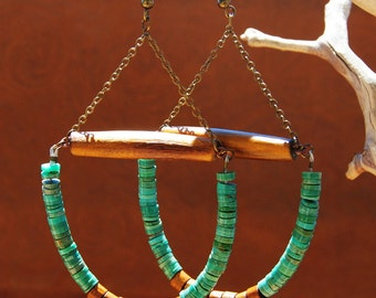African earrings afrocentric jewelry  ethnic jewelry  african jewelry  tribal jewelry - african earrings - jewelry beaded hoop earrings