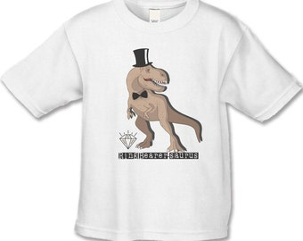Ring Bearer Gift - Dinosaur T-Shirt - Personalized Bridal Party Gifts - Ring Bearer-saurus Shirt - Funny TRex Shirts - Handcrafted Wedding