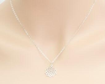 Chakra Necklace, Crown Chakra, 7th Chakra, Sterling Silver, Yoga Jewelry, Chakra Pendant, Buddha Pendant, BeadXS, Meditation Jewelry