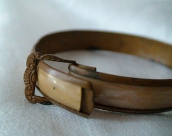 Art Deco Buckled Child Wrist Cuff, Collectible, Unique