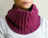 Crochet PATTERN knit look woman cowl, women neckwarmer loop scarf, block loop scarf, man scarf, DIY photo  tutorial Instant download