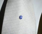 Blue star sapphire  tie tack(8x6mm)
