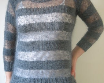 Knitting Pattern Mohair Jumper : Littletheorem by littletheorem on Etsy