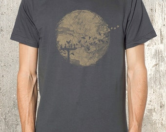Men's T-Shirt - In Flight - American Apparel Screen Printed T-Shirt - Available in S, M, L, XL and 2XL